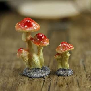 Terrarium Accessories Fairy Garden Red Mushroom