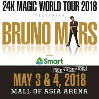 LF Bruno Mars Concert Ticket (2pcs GenAd)