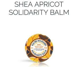 L'occitane Apricot Fragrance Solidarity Balm