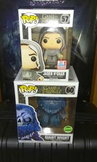 [PRE-ORDER] Jaqen H'Ghar & Giant Wight Game of Thrones Funko Pop Bundle