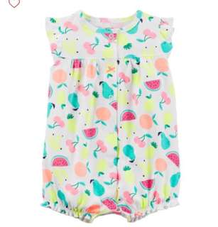 *3M* BN Carter's Snap Up Cotton Romper For Baby Girl