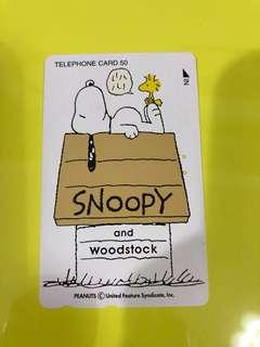 Snoopy 日本電話咭
