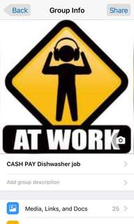 CASH PAY JOB