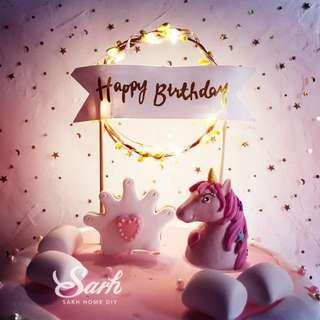 LED Happy Birthday Topper