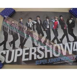 [CRAZY DEAL 90% OFF FROM ORIGINAL PRICE][READY STOCK]SUPER JUNIOR KOREA OFFICIAL POSTER!NEW! OFFICIAL ORIGINAL FROM KOREA  (PRICE NOT INCLUDE POSTAGE) SHIP USING TUBE