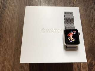 Apple Watch series 2 stainless steel 38mm st white sp