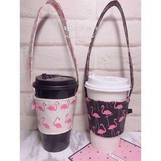 粉紅時尚風暴💘紅鶴火烈鳥♻️環保防水杯套