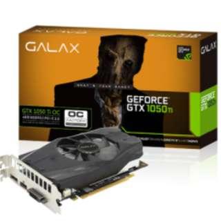 GALAX GeForce® GTX 1050 Ti OC 128-bit DDR5 - DP 1.4, HDMI 2.0b, Dual Link-DVI-D Black