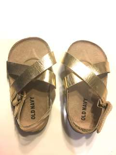 Gold leather-like Old Navy sandals