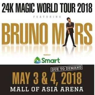 LF: 2 Bruno Mars Tickets upperbox/lowerbox/genAd