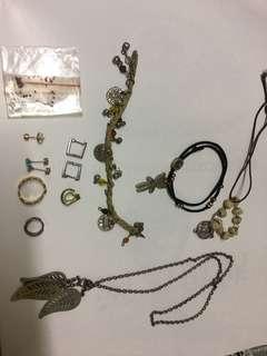 舊手鏈、耳環