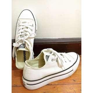 Converse All Star Low Platform Canvas - White