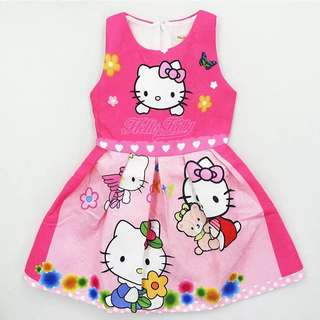 In Stock Hello Kitty Dress(2 For $28)only For hari raya