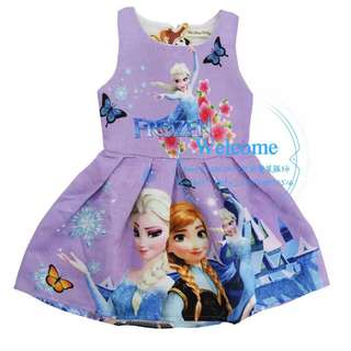 In Stock Frozen Dress only For hari raya