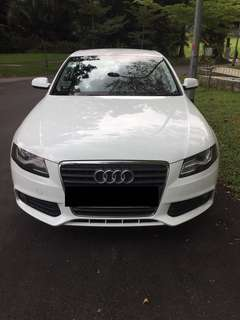 2011 Audi A4 1.8 White For Rent