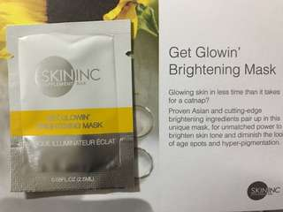 Skin inc get glowin brightening face mask