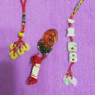 玉石吊飾×3
