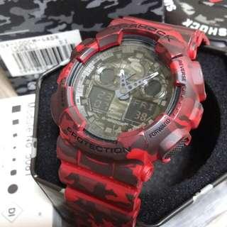 Authentic Casio G-Shock GA-100CM-4ADR Camo Gshock sports watch
