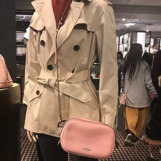 Coach Isla Chain Crossbody Bag - pink