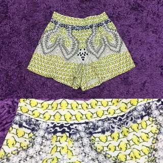 Yellow Abstract Shorts