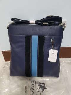 Instock Authentuc coach men's sling bag