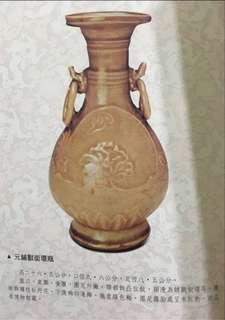「祥雲瑞氣」宋 金 元代 10世紀~13世界 雙耳鋪獸銜環瓶 中國 日本