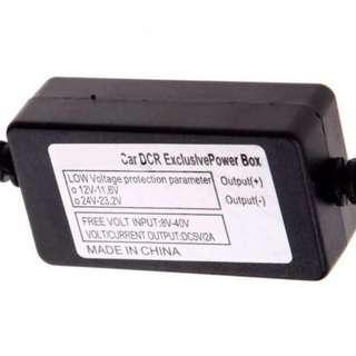 24hrs Parking Mode Car Camera - Direct Battery Low Voltage Protection Power Adapter with 24V/12V Step Down to 5V