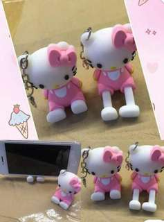 Hello Kitty keychain and cp holder 📱
