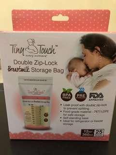 Tiny touch milk storage bag 12 0z