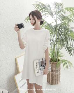 Brand New White Tee Oversized Dress