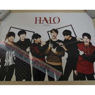 [CRAZY DEAL 90% OFF FROM ORIGINAL PRICE][READY STOCK]HALO KOREA OFFICIAL POSTER!NEW! OFFICIAL ORIGINAL FROM KOREA  (PRICE NOT INCLUDE POSTAGE) SHIP USING TUBE