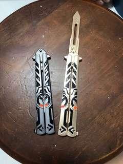 Butterfly jilt training knife