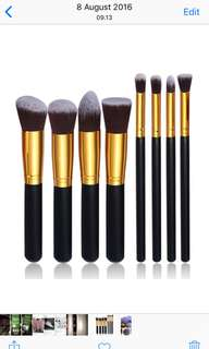 Makeup brush black gold