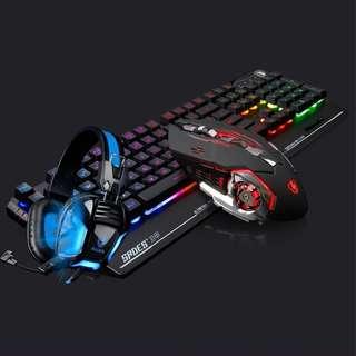 (Keyboard+Mouse+Headset) SADES Blademail Gaming Keyboard Mouse Headset