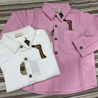Toddler Long Sleeves Shirt- PRICE FOR EACH