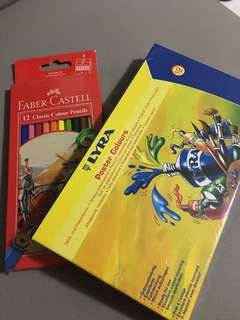 Brand New Faber Castell Color Pencil & Lyra Poster Color
