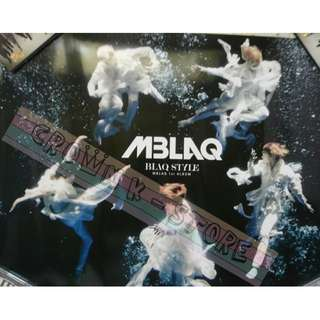 [CRAZY DEAL 90% OFF FROM ORIGINAL PRICE][READY STOCK]MBLAQ KOREA OFFICIAL POSTER!NEW! OFFICIAL ORIGINAL FROM KOREA  (PRICE NOT INCLUDE POSTAGE) SHIP USING TUBE