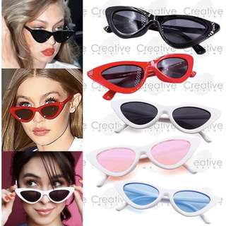 FREE CASE & WIPER | Lolita Cat Eye Retro Summer Sunnies Sunglasses Shades Specs Eyewear