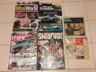 Lot no.3 of 4 Mini and Other Magazines