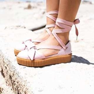 Puma Fenty x Rihanna Bow Creeper Sandals 'Silver PinkOatmeal'