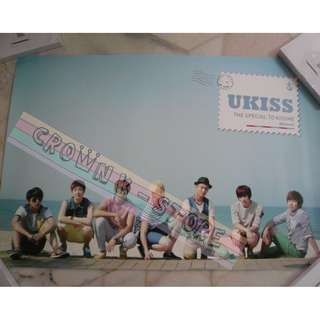 [CRAZY DEAL 90% OFF FROM ORIGINAL PRICE][READY STOCK]UKISS U-KISS KOREA OFFICIAL POSTER!NEW! OFFICIAL ORIGINAL FROM KOREA  (PRICE NOT INCLUDE POSTAGE) SHIP USING TUBE