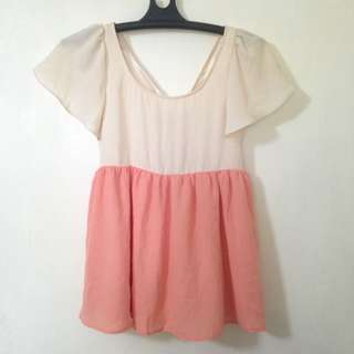 Chiffon top with a bow