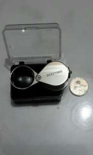 Magnifier 30X for gold jeweller/ watch/ precious stones