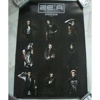 [CRAZY DEAL 90% OFF FROM ORIGINAL PRICE][READY STOCK]ZE:A KOREA OFFICIAL POSTER!NEW! OFFICIAL ORIGINAL FROM KOREA  (PRICE NOT INCLUDE POSTAGE) SHIP USING TUBE