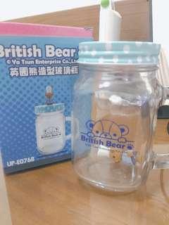 英國熊造型梅森杯 天藍色