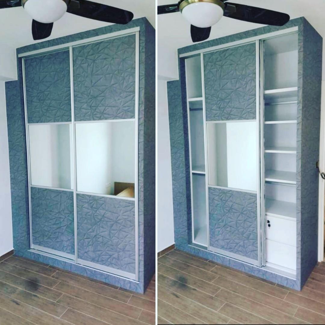 6ft Built In Wardrobe (2 sliding door with mirror), Furniture ... on