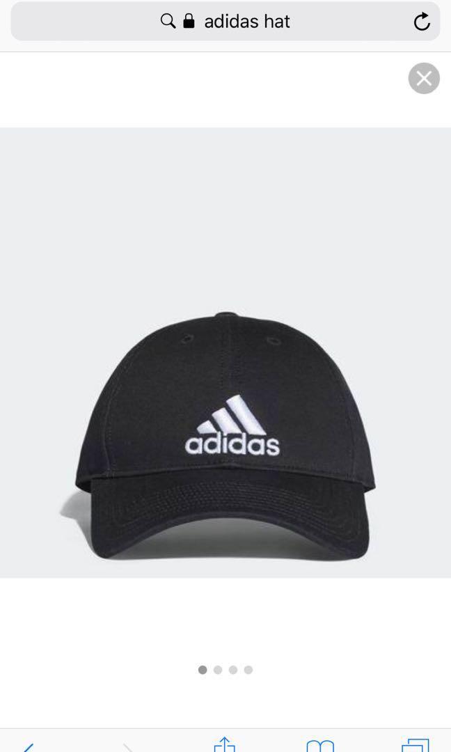 Adidas black cap hat