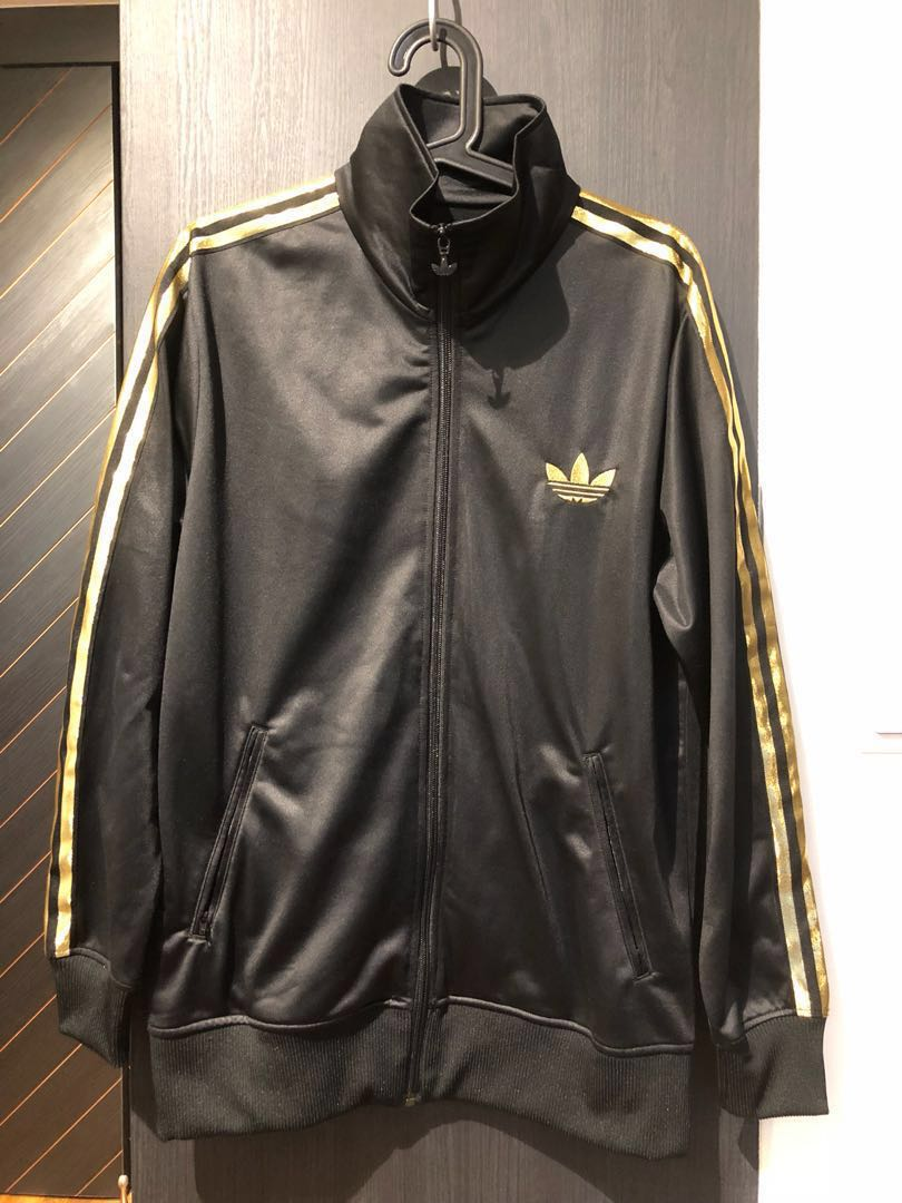 huge discount d1cfb 664cf Adidas Originals Men s Track Jacket Black   Gold, Men s Fashion, Clothes on  Carousell