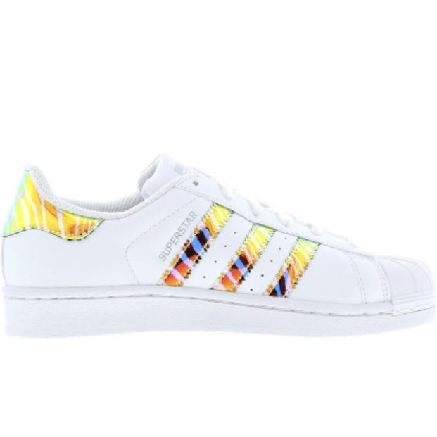 41cd24b4771308 Adidas Superstar Iridescent White Zebra