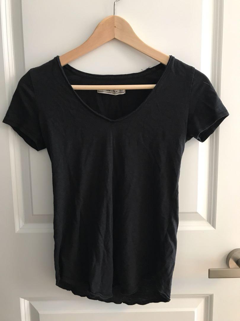 A&F XS black shirt